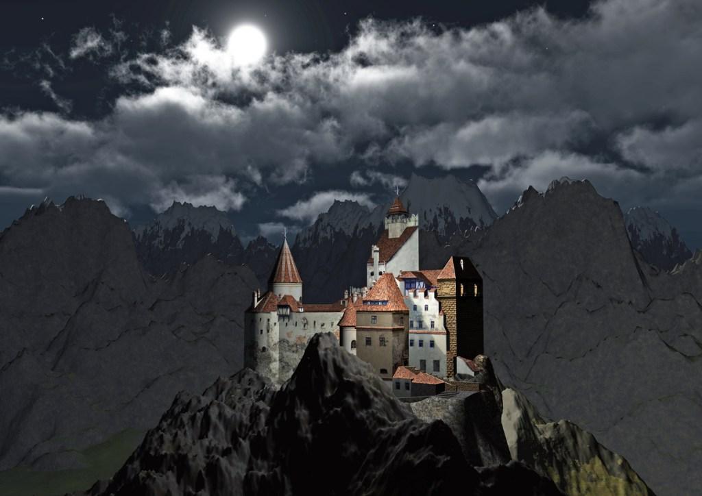 Bran Castle night view, Transylvania, Romania