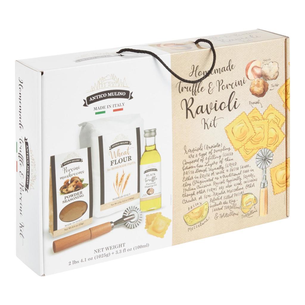 photo of the ravioli kit in a cardboard box