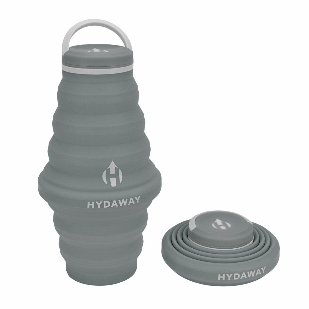 photo of a gray water bottle