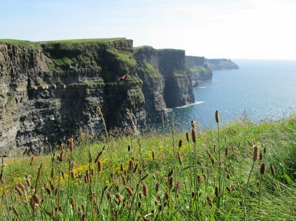 jagged cliffs on the coast of ireland