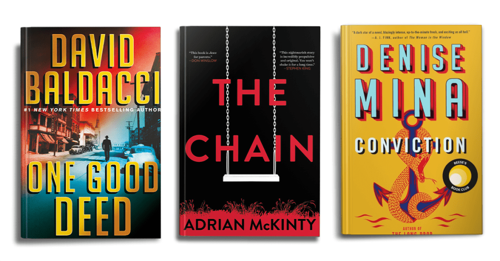 The Best Hardcover Thriller Novel 2020 Nominees Featured Image