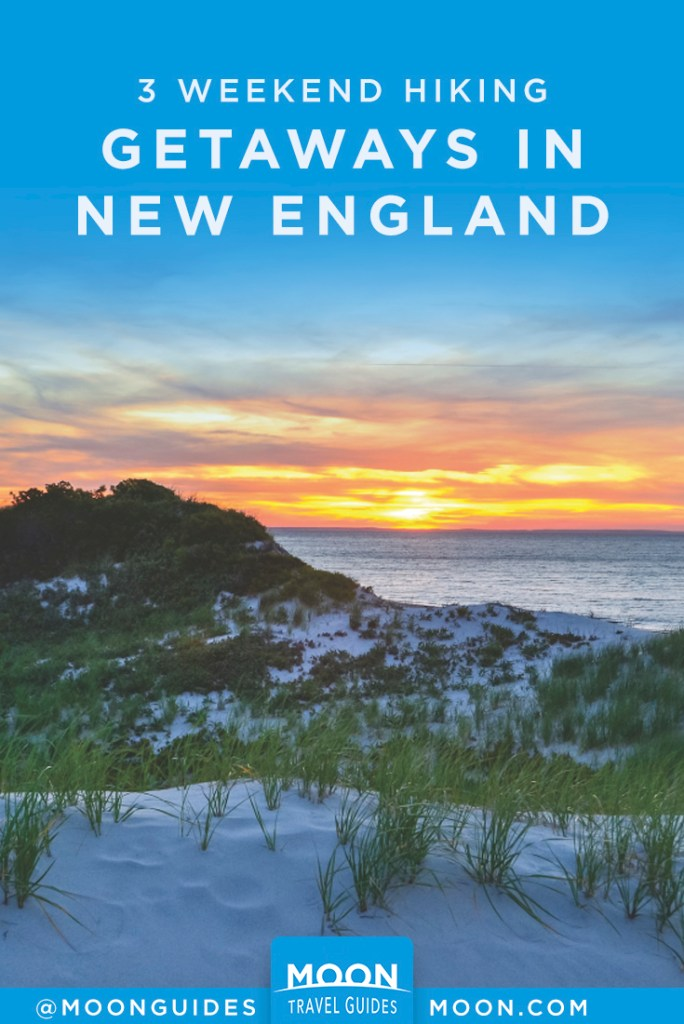 new england weekend hiking getaways pinterest graphic