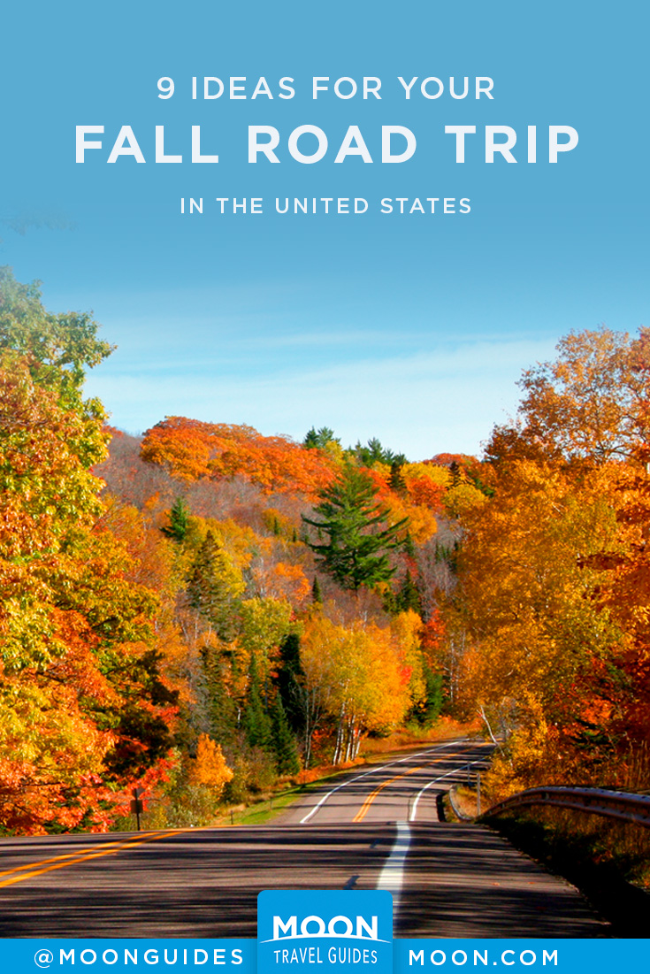fall road trip pinterest graphic