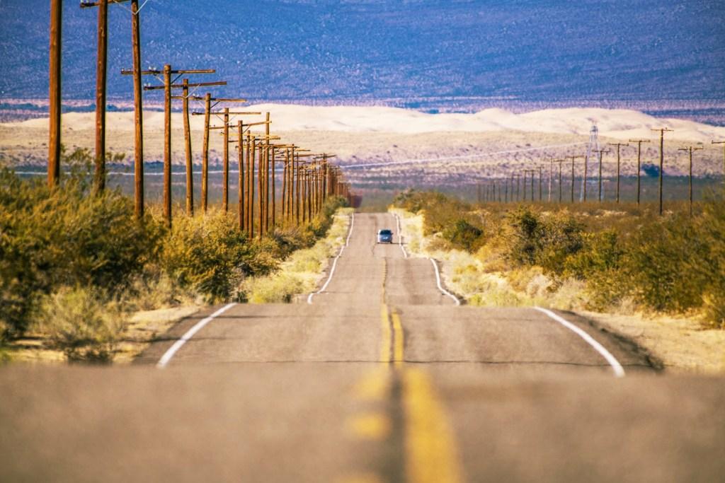 road trip in the desert