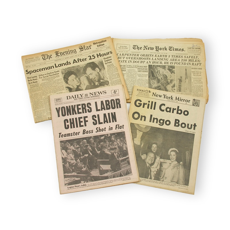 photos of historical papers in history