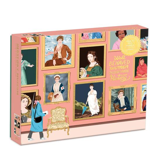 a photo of a puzzle featuring women throughout history