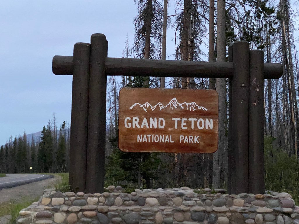 sign for Grand Teton National Park
