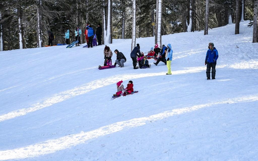 sledding on mt rose