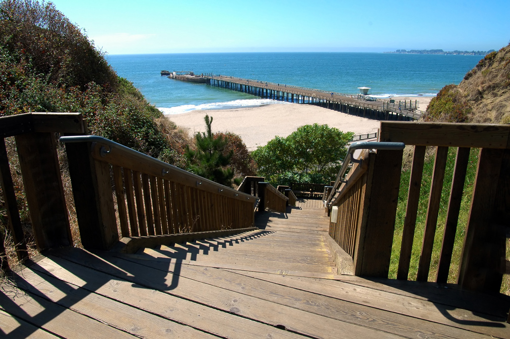 stairs that lead to Seacliff State Beach, Monterey Bay