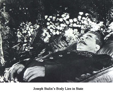 Joseph Stalin's body lies in state