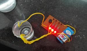 water level indicator ,bc547 transistor