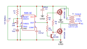 12V to 240V Inverter using 555