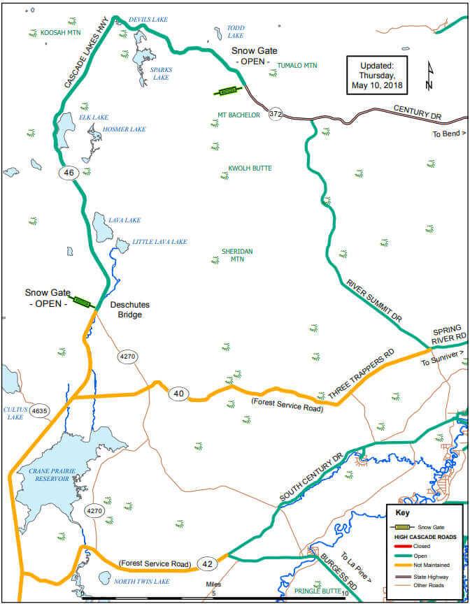 Cascade Lakes Highway and Paulina Lake Road Closing Nov. 19 ...
