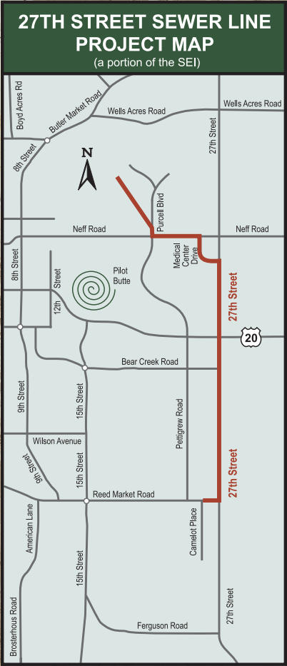 27th Street sewer line project map