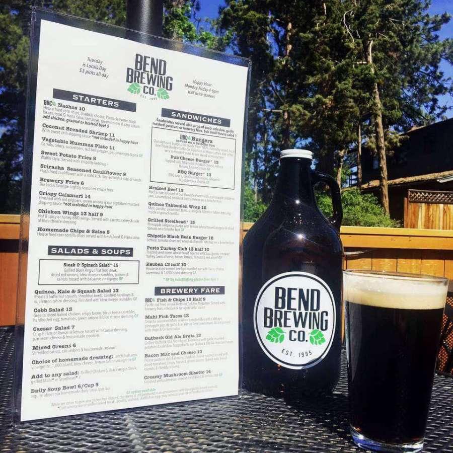 Bend Brewing Company's new menu