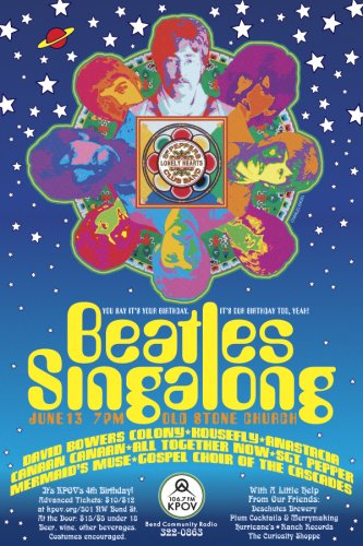 KPOV Beatles Singalong Flier