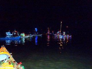 Christmas kayaking on Mirror Pond