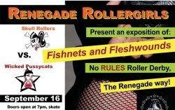 Renegade Rollergirls flyer