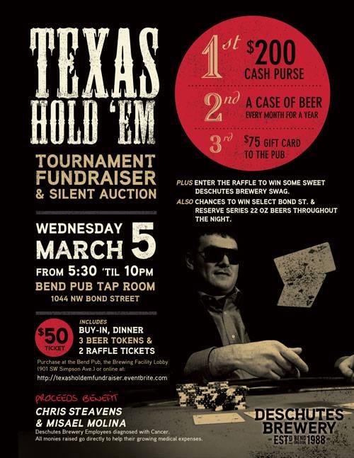 Deschutes Brewery Texas Hold 'Em fundraiser