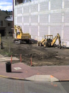 Breaking ground on the Oxford Hotel, Bend, Oregon