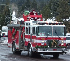 Santa Claus in the Bend Christmas Parade