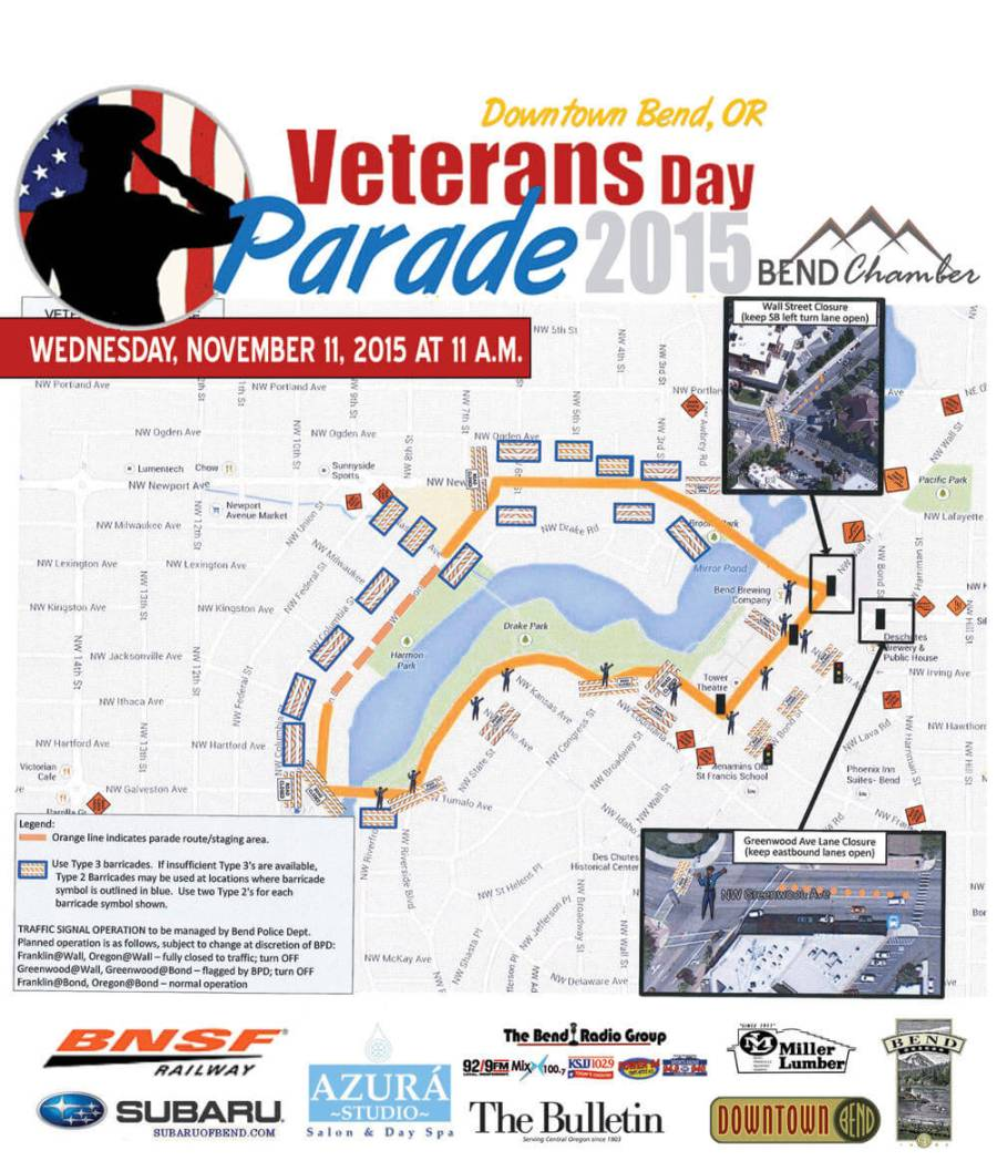 Veteran's Day Parade 2015 route