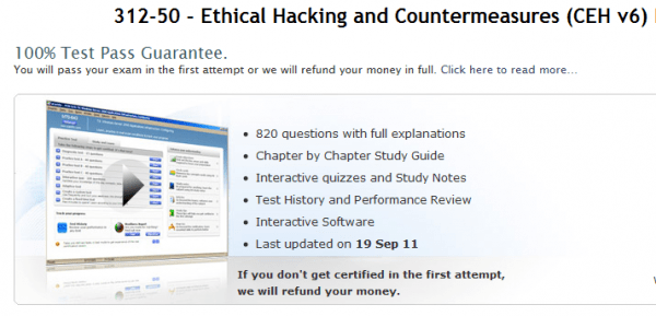 uCertify Ethical Hacking Prepkit