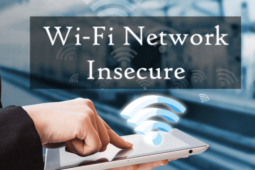Wi-Fi Network Insecure