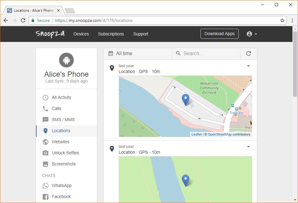 Snoopza free-hidden-cell-phone-tracker