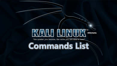 Kali linux commands list