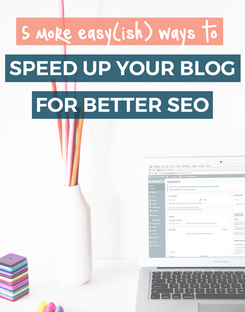 5 more easy(ish) ways to speed up your blog for better SEO (mini eBook with printable checklist) via @HackingDigital