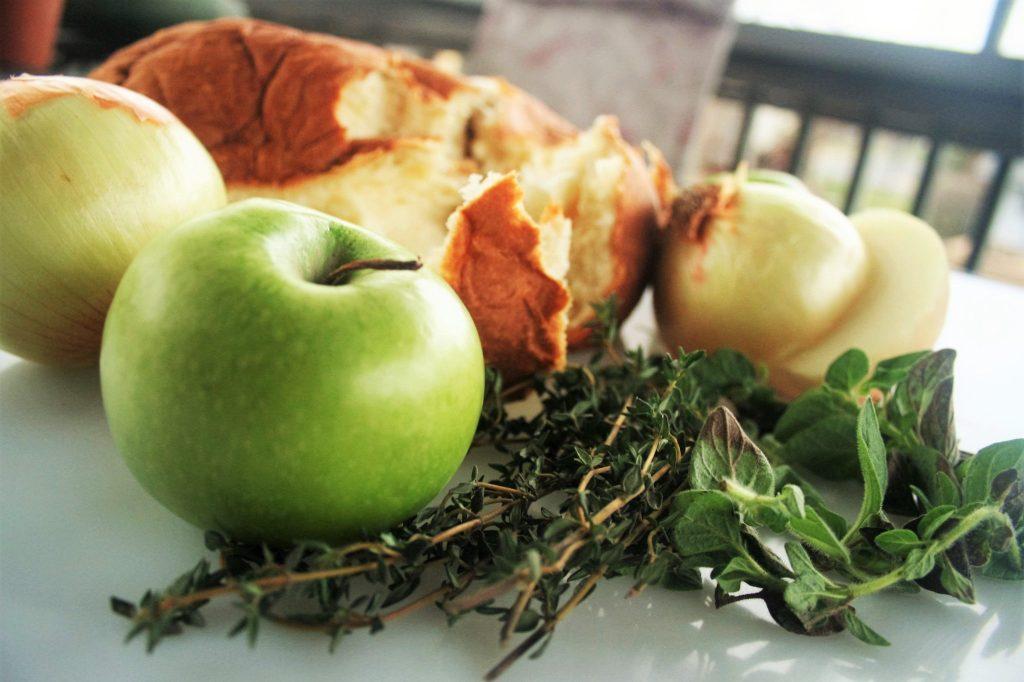 Low Sodium Chorizo and Green Apple Stuffing