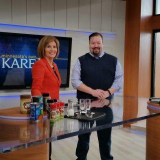 Hacking Salt on NBC KARE 11 to talk Low Sodium Diets