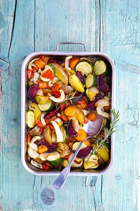 Low Sodium Oven Roasted Vegetables With Rosemary
