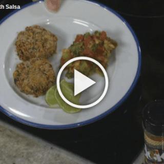 Low Sodium Black Bean Patties with Fresh Salsa
