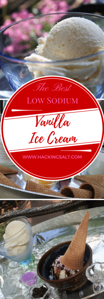 The Best Low Sodium Vanilla Ice Cream - A recipe to make this classic dessert heart healthy and great tasting! #lowsodium #hearthealth