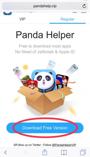 How to download pandahelper in ios