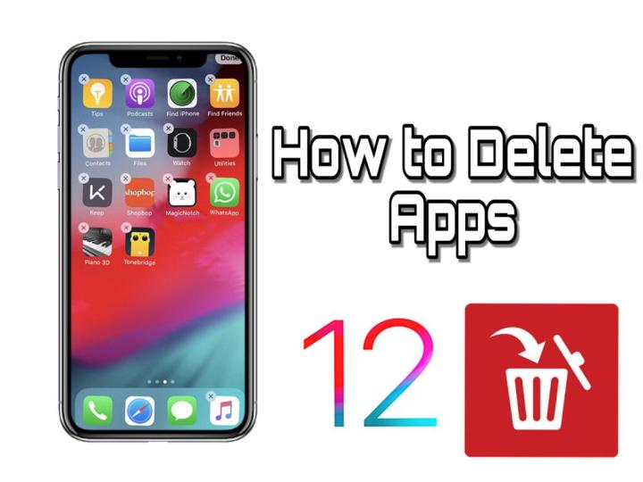 How to delete apps on iPhone iOS 12