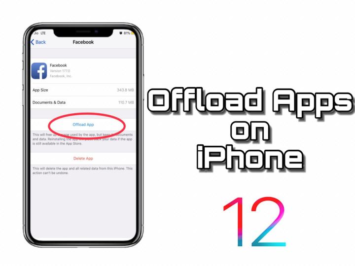 How to offload apps on iphone ios 12