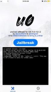 iOS 12 Jailbreak using Uncover