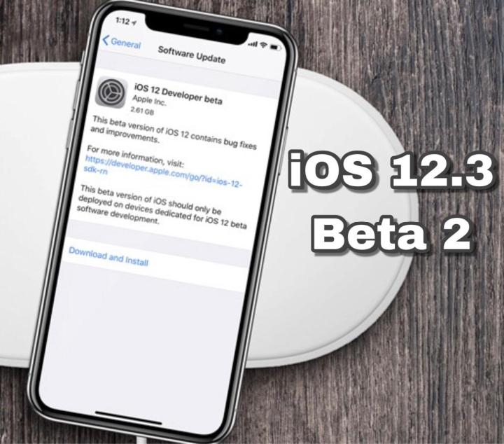 iOS 12.3 Beta 2 Download