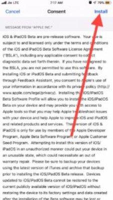 Installing iOS 13 Public Beta profile