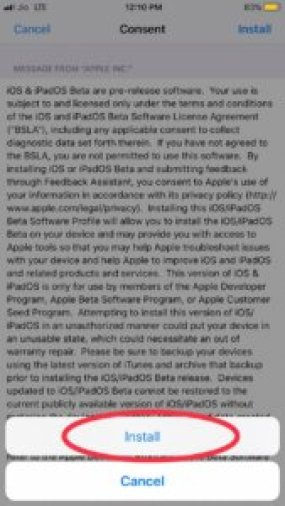Final Install iOS 13 beta 5