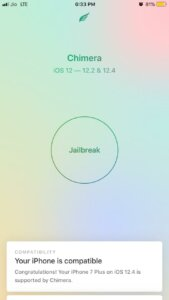 Jailbreak iOS 12.4 with chimera