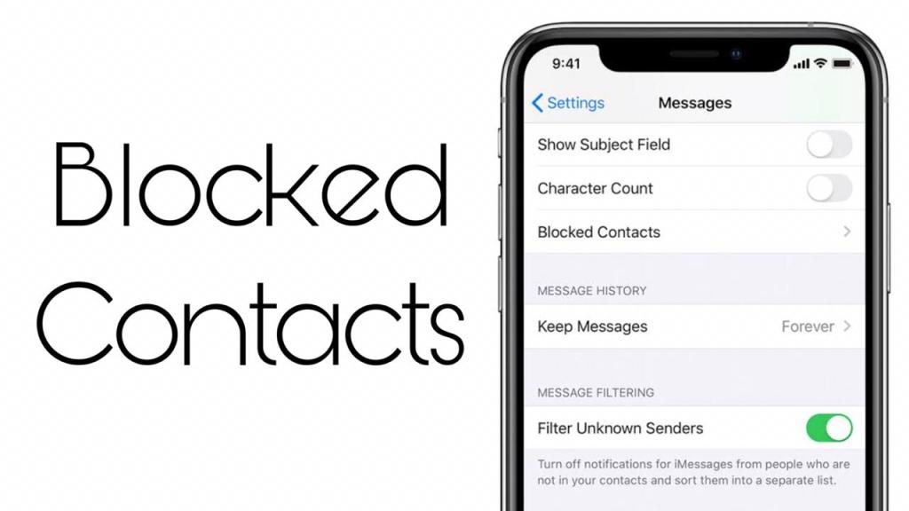 How to see blocked contacts on iPhone