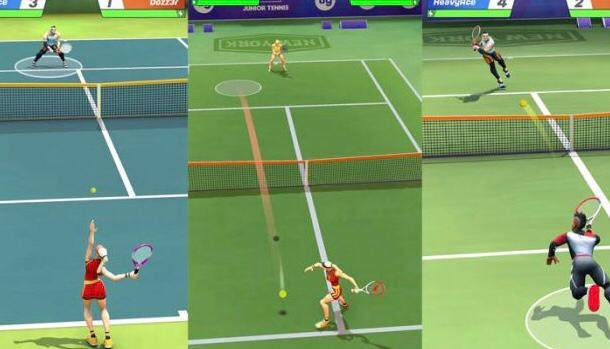 Tennis Clash free iOS multiplayer game to play with friends