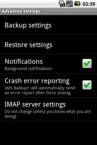 Android SMS Backup