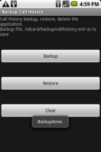 android backup call log