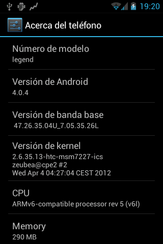 CM9 Ice Cream Sandwich for HTC Legend