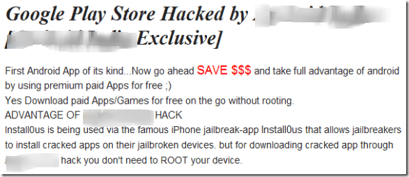 Android India hack